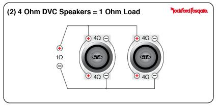 4 ohm dvc wiring options 4 ohm sub to 1 ohm amp wiring