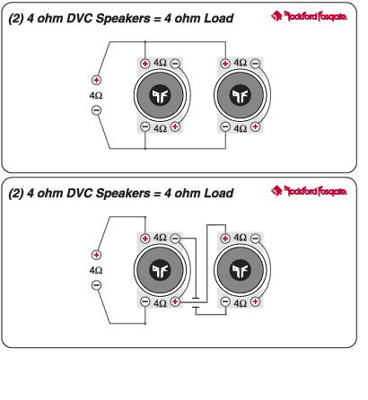 can you hook up 2 subwoofers to a mono amp Step multiply the impedance levels of the two left speakers divide this number by the number from step 3 if the quotient is within the limits of your amplifier, wire the speakers in parallel if it is not, you will not be able to use the speakers with your amplifier.