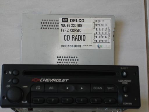 PLZ CODE RADIO DELCO CDR500