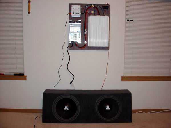 Hook up car subs in house