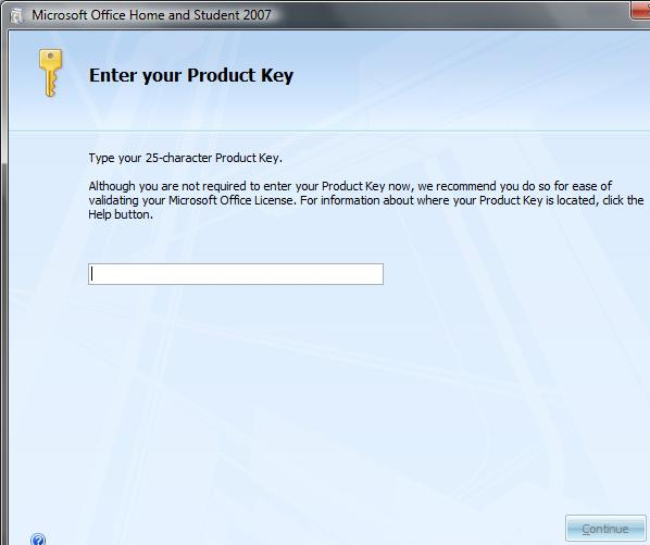 Reinstall Microsoft Office 2007 With Product Key