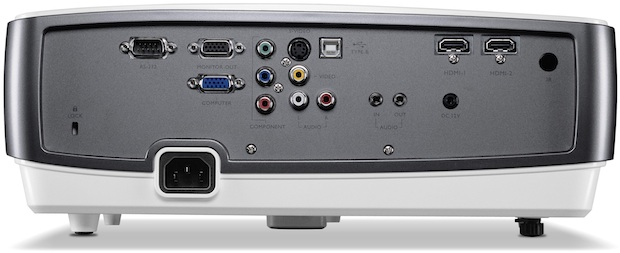 BenQ W1200 Full HD DLP Projector - Back