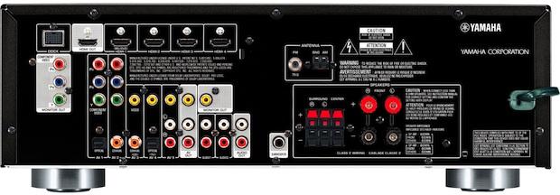 Yamaha RX-V371 A/V Receiver - back