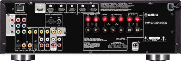Yamaha RX-V571 A/V Receiver - Back