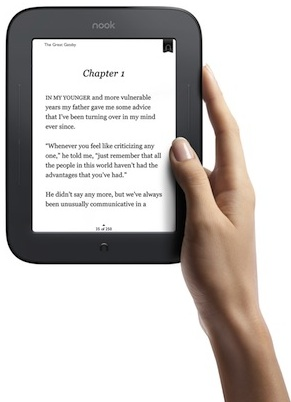 Barnes & Noble Nook Simple Touch eReader in hand