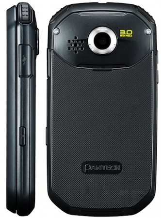 Pantech Crossover Smartphone - Side, Back
