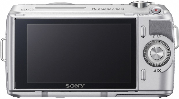 Sony NEX-C3 APS-C Digital Camera - Back