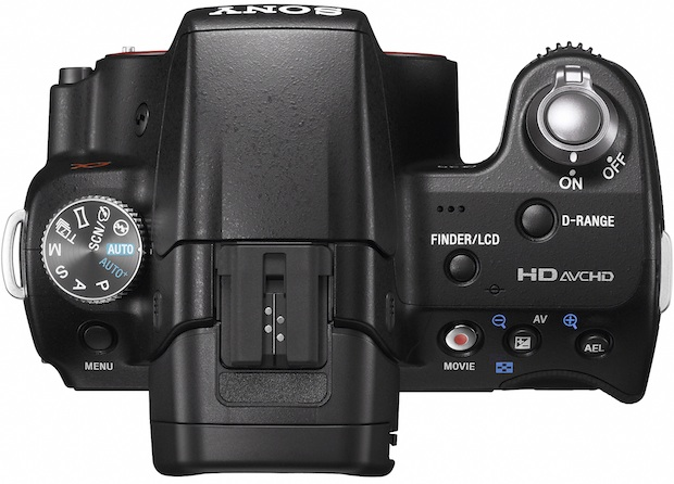 Sony SLT-A35 Alpha SLR Digital Camera - Top