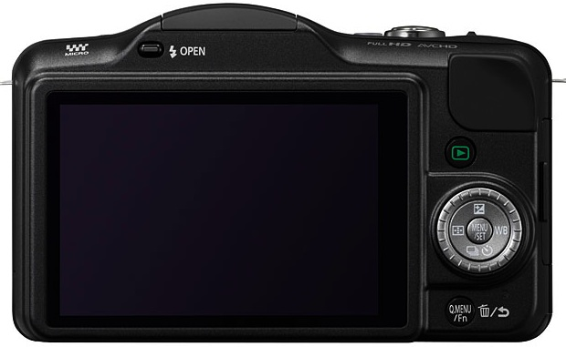 Panasonic DMC-GF3 Lumix Micro Four Thirds Digital Camera - Back