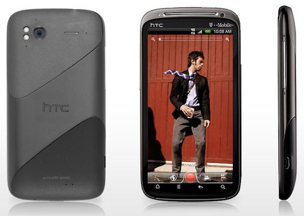 HTC Sensation 4G Smartphone - Front, Back, Side