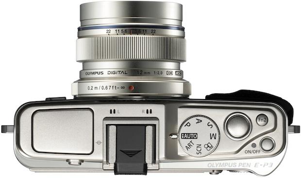 Olympus PEN E-P3 Micro Four Thirds Digital Camera - Top