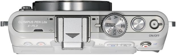 Olympus PEN Lite E-PL3 Micro Four Thirds Digital Camera - top