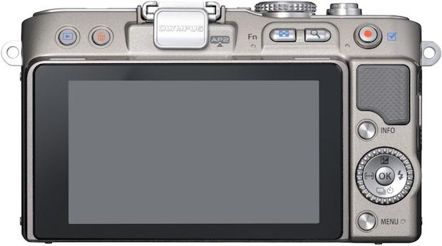 Olympus PEN Lite E-PL3 Micro Four Thirds Digital Camera - back