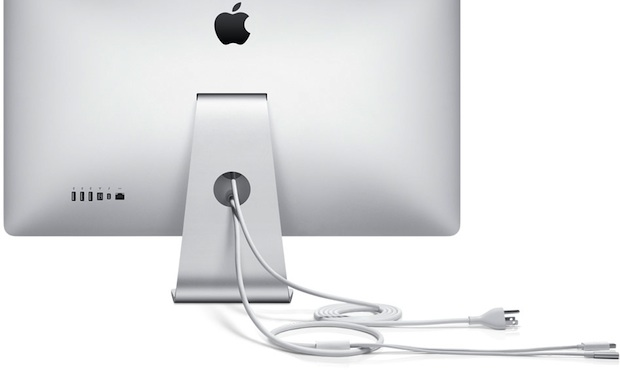 Apple Thunderbolt Display 27-inch LCD Monitor - Back