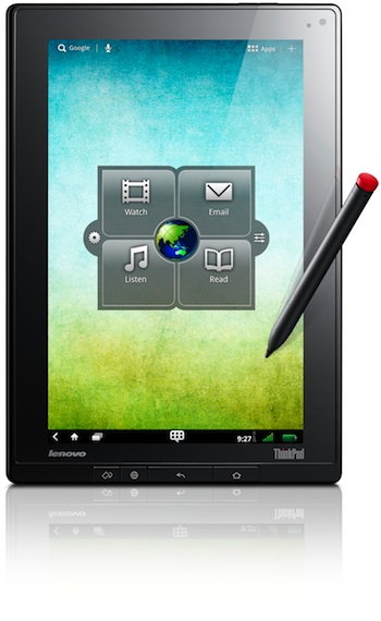 Lenovo ThinkPad Tablet with digitizer pen
