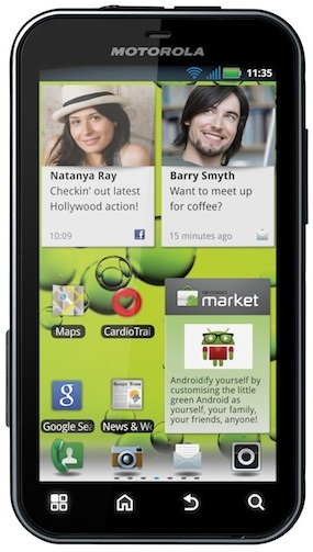 Motorola DEFY+ Android 2.3 Smartphone - Front