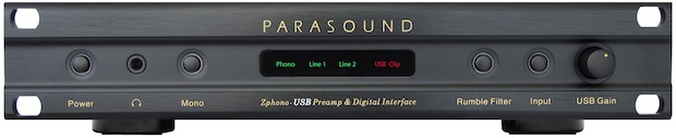 Parasound Zphono-USB Preamplifier - front