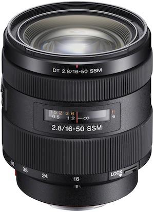 Sony SAL1650F28 DT 16-50mm F2.8 SSM zoom lens