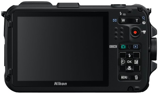 Nikon COOLPIX AW100 Rugged Digital Camera - Back