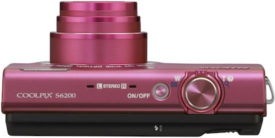 Nikon COOLPIX S6200 Digital Camera - Top