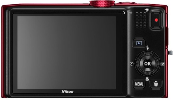 Nikon COOLPIX S8200 Digital Camera - Back in red
