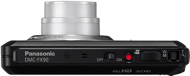 Panasonic DMC-FX90 Lumix Wi-Fi Digital Camera - Top
