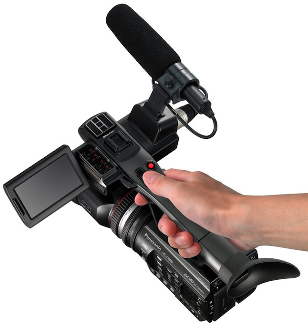 Panasonic HDC-Z10000 Professional 2D/3D Camcorder - top