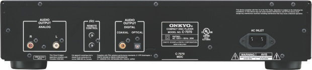 Onkyo C-7070 CD Player - Back