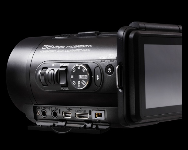 JVC GC-PX10 Hybrid Digital Camera/Camcorder - back