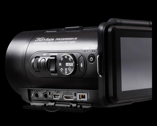 JVC GC-PX10 Hybrid Digital Camera/Camcorder - back