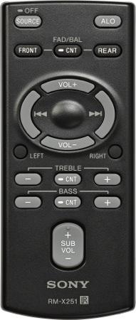 Sony RM-X251 Remote