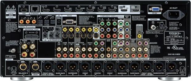 Integra DHC-80.3 THX-Ultra2 Plus Network AV Preamplifier/Processor - back