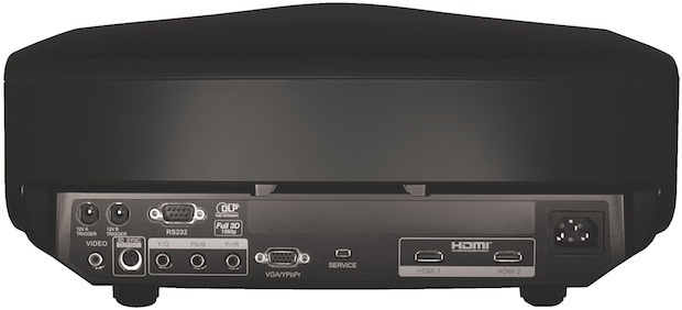 Optoma HD8300 3D Home Theater DLP Projector - back