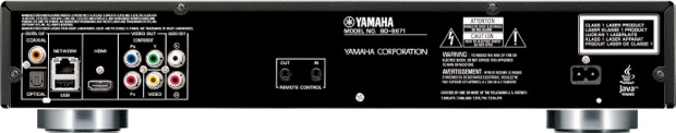 Yamaha BD-S671 Networked Blu-ray 3D Player - back