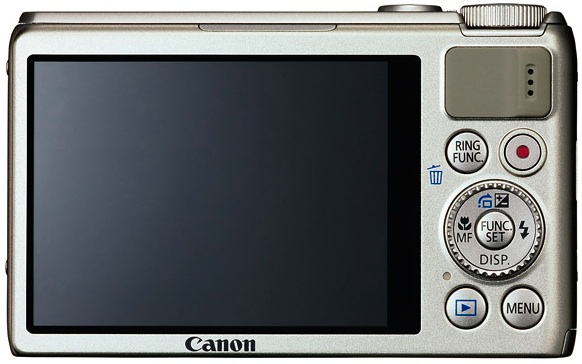 Canon PowerShot S100 Digital Camera - back