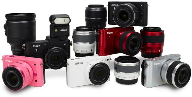 Nikon J1 Interchangeable Lens Digital Camera Colors and Lenses