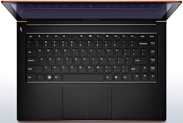 Lenovo IdeaPad U300s Ultrabook Laptop - Keyboard