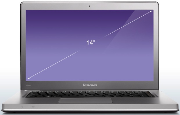 Lenovo IdeaPad U400 Laptop - Front