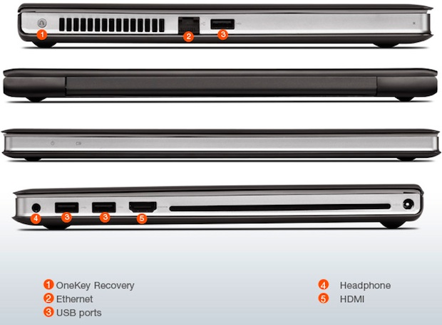 Lenovo IdeaPad U400 Laptop - Sides