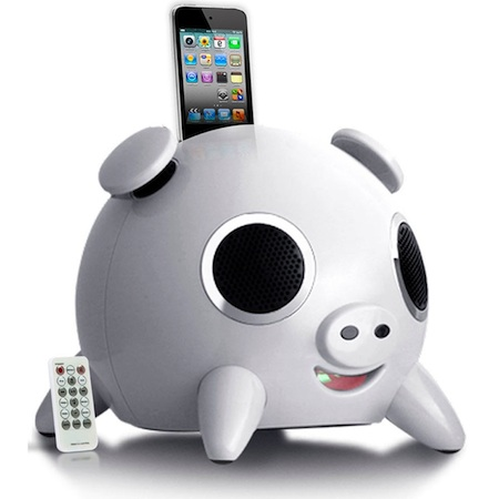 Speakal iHog iPod Speaker Dock - White