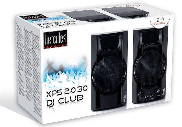 Hercules XPS 2.0 30 DJ Club Computer Speakers - box