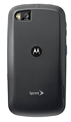 Motorola ADMIRAL Sprint Direct Connect Smartphone - back