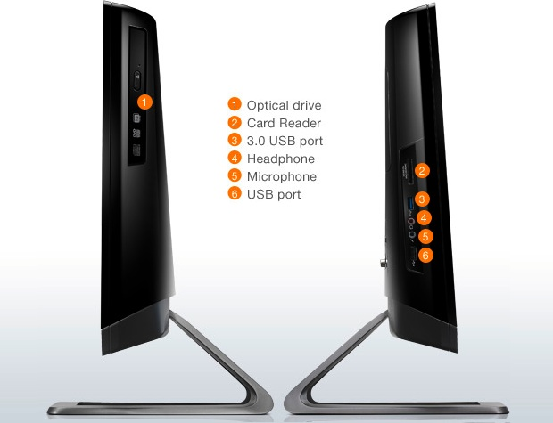 Lenovo C325 All-In-One Desktop PC - Sides