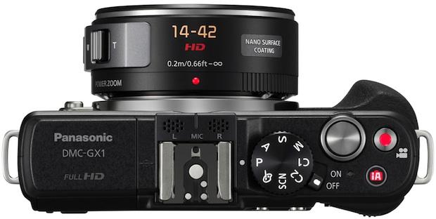 Panasonic DMC-GX1 Lumix Micro Four Thirds Digital Camera - Top