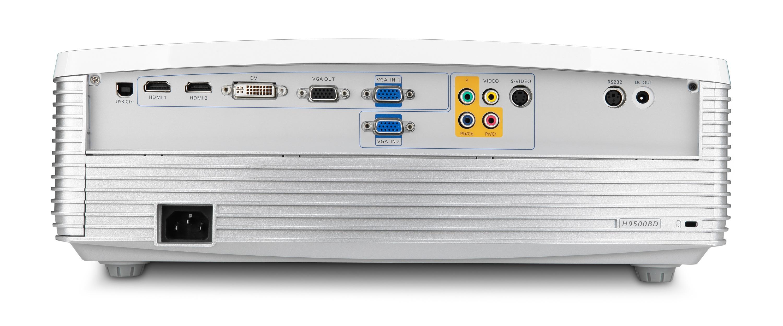 Acer H9500BD DLP 3D Projector - back