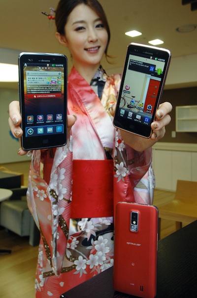 LG L-01D Optimus LTE Smartphone in hand