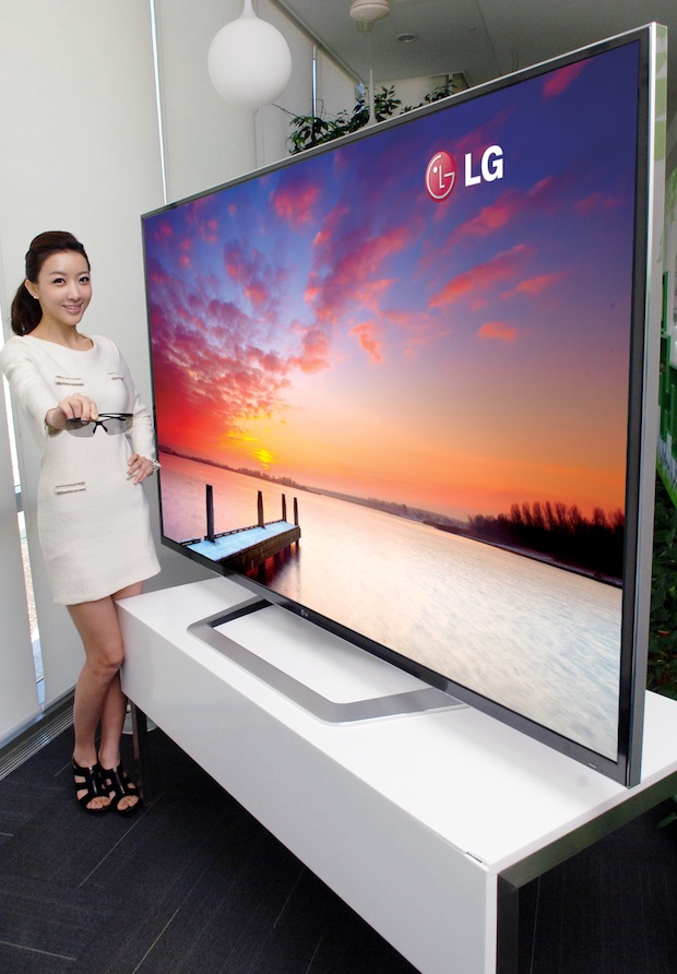 LG Ultra Definition 84-inch 3D LCD HDTV - angle