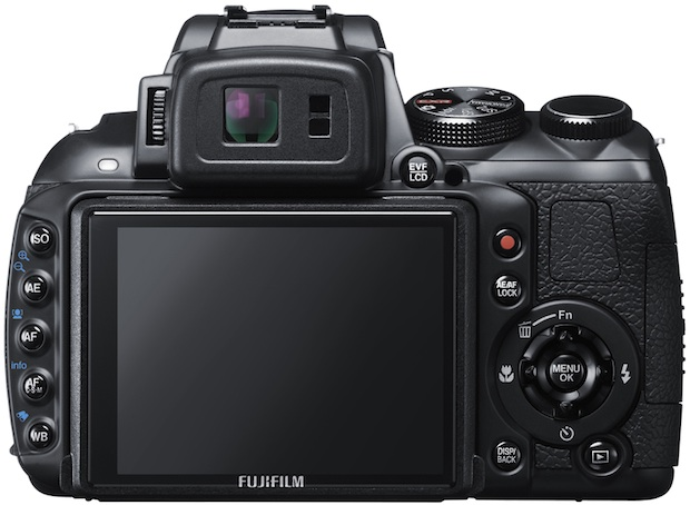 FujiFilm FinePix HS30EXR Digital Camera - back