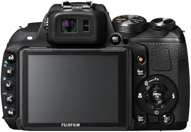 FujiFilm FinePix HS25EXR Digital Camera - back