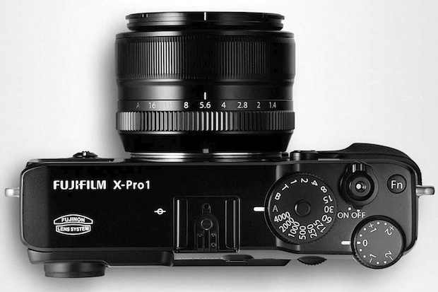 FujiFilm X-Pro1 Interchangeable Lens Digital Camera - top
